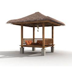 bali gazebo 3d max - Bali Gazebo... by priyatnadp