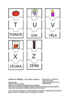 ALFABETOS LINDOS: Jogo educativo: Quebra-cabeças do alfabeto!