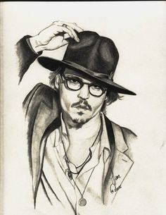 My Drawing of Johnny Depp :)