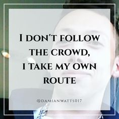 I take my own route  - - Tags: #marketing #affiliatemarketing #entrepreneur #motivation #success #marketingtips #tips #ragstoriches #millionaire #instamarketing #market #boss #health #wealth #love #happiness  #sales #affilates #successquotes  #motivationalquotes #invest #growth #l4l #f4f #inspirationalquotes #quotestoliveby #quoteoftheday