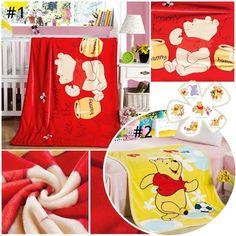 Cute Disney Winnie the Pooh Warm Plush Flannel Blanket Throw Bedding Rug 39 x55