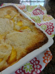 Yummy Peach Cobbler! (made with self rising flour, so it's EASY!)