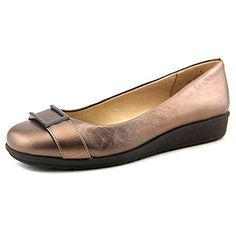 Easy Spirit Women's Jivanta Leather Closed Toe Slides, Brown, Size 11.0 US  - Easy spirit flats for women (*Amazon Partner-Link) | Pinterest