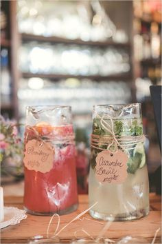 twine with labels | yummy mojito | pitcher drink ideas | reception drinks | #weddingchicks