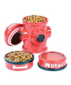 Love this Fire Hydrant Feeder Set on #zulily! #zulilyfinds