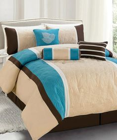 Turquoise Florida Comforter Set