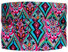 """Amazon.com: Custom & Fancy {.9"""" Inch Width - 3 YDS} 1 Pack of Wide """"Grosgrain"""" Ribbon for Hairbows, Decorations & Gift Wrap Made of Polyester & Nylon W/ Crown Jewel Pattern [Pink, Green, & Blue Color]"""