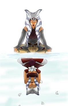 """I'm Ahsoka? Master Yoda sent me to deliver a message.""""Ahsoka. My name is Ahsoka Tano."""