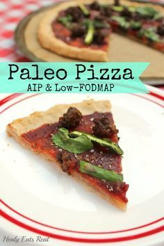 Paleo Pizza (AIP, Low-FODMAP) & Mediterranean Paleo Cooking Giveaway | http://healyeatsreal.com/paleo-pizza-aip-low-fodmap/