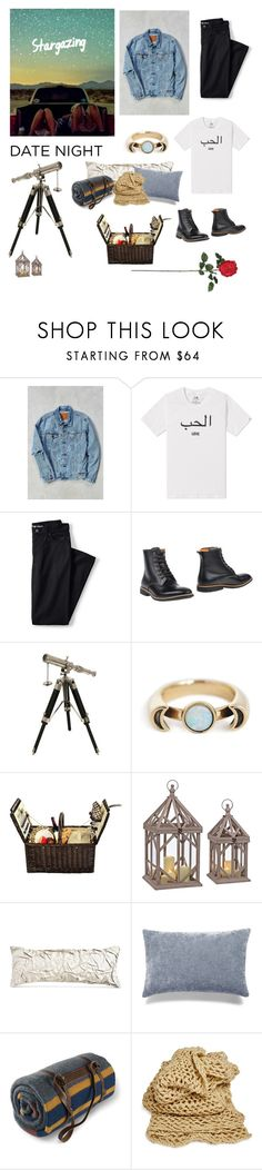 """Date night: Stargazing"" by theoxygenthief ❤ liked on Polyvore featuring Levi's, Head Porter, Lands' End, Paul Smith, Pamela Love, Picnic at Ascot, Donna Karan, Bluebellgray, Pendleton and Nearly Natural"