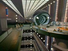 The Time Tunnel: Control Room platform and surrounding structures.