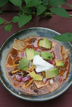 Vegetarian Tortilla Soup on Pinterest | Vegetarian Soup Recipes ...