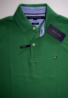 dafe9ed8 NWT New Men's Tommy Hilfiger Slim Fit Short Sleeve Polo Shirt top Solid  Colors | eBay