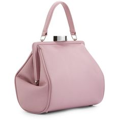 LULU GUINNESS Powder Pink Leather Small Eva ($550) ❤ liked on Polyvore