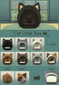 Cat Litter Box for TS4! 猫ちゃんのおトイレです。 レーザーなどは付いていませんので, お手数ですがうんぴはこまめに回収してください。 大人の猫ちゃんだと一瞬しっぽがはみ出すかもしれませんが 見なかったことにしてください。 プレイに支障をきたすような不具合が起きたらお知らせください。 Please remember to always scoop the poop...