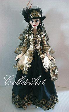 "2013 Tonner Wilde Imagination Evangeline Ghastly OOAK Fashion Outfit ""Shining thru the Darkness"" Collet-Art   Flickr - Photo Sharing!"