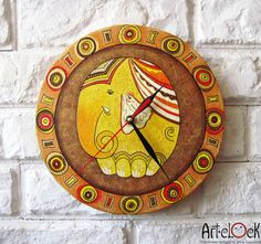Elephant  Wall Clock