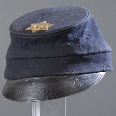 """GENERAL E.H. STOUGHTON'S """"MCDOWELL"""" PATTERN FORAGE CAP - Edward H. Stoughton was a regular officer who took command of the 4th Vermont in August 1861. At a youthful 24 he was appointed brigadier general in November 1862 and led the stepchild 2nd Vermont Brigade only briefly before being unceremoniously captured in his nightclothes by famed Confederate partisan John S. Mosby during a lightening night raid on Fairfax Courthouse, March 9, 1863."""
