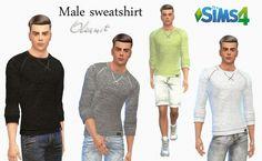 Male sweatshirt by Olesmit at OleSims via Sims 4 Updates