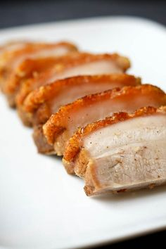 Crispy Pork Belly (Siu Yuk) - this has the perfect amount of crispiness! Absolutely delicious!