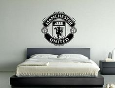 Manchester United Football Club Badge Emblem Vinyl Wall Art Sticker Decal Picture (Black, Medium 55 cms wide x 55 cms high) Man U http://www.amazon.co.uk/dp/6042463802/ref=cm_sw_r_pi_dp_IMphwb0BN2ESJ