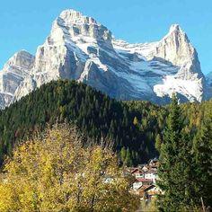 Monte Pelmo con sotto Zoppè di Cadore - Dolomites, province of Belluno, Veneto, Northern Italy