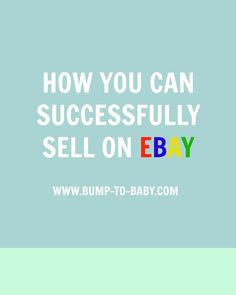 Wondering how to sell your stuff on eBay? Here are some top tips on how to Successfully Sell on eBay
