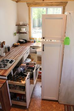 andrew odom tiny house 030   Andrews Family Tiny Home on Wheels: Rooms and Spaces and Tiny Places