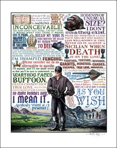 As You Wish Princess Bride tribute signed print by ChetArt on Etsy, $25.00