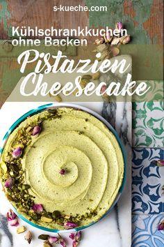 PISTAZIEN CHEESECAKE OHNE BACKEN Dieser genial leckere, sehr cremige Cheesecake ist nach nur 15 Minuten bereit für den Kühlschrank und kann vernascht werden, sobald er gut durchgekühlt ist.