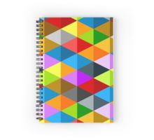 Modern bright funky colorful triangles pattern Spiral Notebook by #PLdesign #geometric #modern #ColorfulTriangles #redbubble