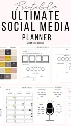 Using this Social Media Planner will increase your productivity and confidence in your small business. Grow your social media accounts more than you could ever imagine! This printable planner has been simply made to help you set your priorities and manage Marketing Logo, Inbound Marketing, Marketing Services, Digital Marketing Strategy, Affiliate Marketing, Content Marketing, Marketing Strategies, Marketing Ideas, Internet Marketing