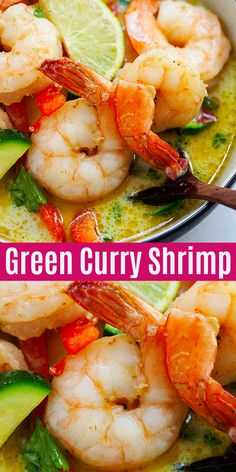 Delicious shrimp curry made with Thai green curry paste. This authentic Green Curry Shrimp recipe takes 20 mins to make and tastes just like restaurants | rasamalaysia.com #dinner #thaifood #shrimp #curry