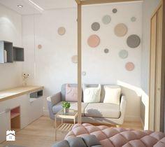 Aranżacje wnętrz - Pokój dziecka: Projekt domu jednorodzinnego z pastelowymi kolorami - Mały pokój dziecka dla dziewczynki dla malucha dla nastolatka, styl nowoczesny - Mart-Design Architektura Wnętrz. Przeglądaj, dodawaj i zapisuj najlepsze zdjęcia, pomysły i inspiracje designerskie. W bazie mamy już prawie milion fotografii!