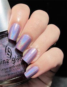 Nail Wish: Seven Deadly Sins Challenge Day 5: Greed using China Glaze IDK holographic polish from the OMG! Collection