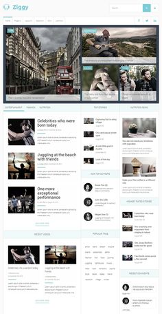 Blueprint is a clean modern and professionally designed responsive ziggy is a clean stylish and professionally designed responsive joomla template suitable for blogs malvernweather Image collections