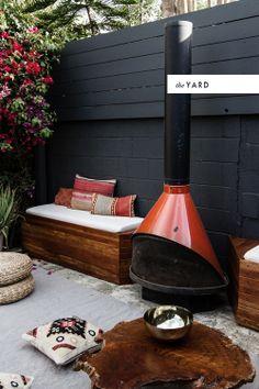 DIY patio built ins