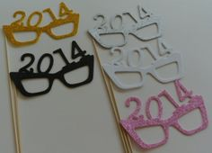 Items similar to New Years Photo Booth Props 2014 Glasses on Etsy Christmas Photo Booth Props, Christmas Photos, Girl Parties, Tea Parties, New Year Photos, Photo Booths, Holiday Ideas, 4th Of July, Party Time