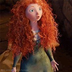 Merida - Disney-Pixar-Brave Wild & Natural Hair Movement Merida Disney, Disney Tangled, Disney Art, Pixar Movies, Disney Movies, Disney Characters, Gifs, Merida And Hiccup, Brave Merida