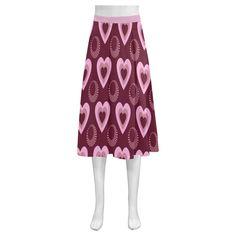 Heart Throb Mnemosyne Women's Crepe Skirt(Model D16)