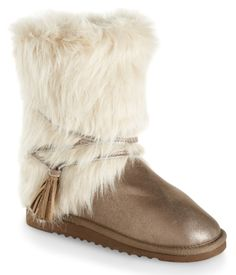 Faux Fur Wrap Boot SOOOO cute <3