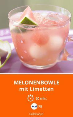 Melonenbowle - mit Limetten - smarter - Kalorien: 78 Kcal - Zeit: 20 Min.   eatsmarter.de