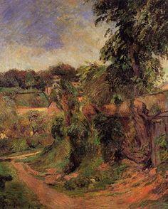 Near Rouen, 1884 - Paul Gauguin - WikiArt.org