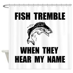Fish Tremble Shower Curtain on CafePress.com
