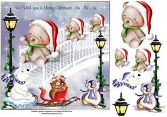 playing in the snow on Craftsuprint designed by Heather Howes - a fun card for any age  - Now available for download!