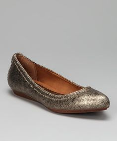 Take a look at this Platinum Suede Ciela Flat by Calvin Klein on #zulily today! $44.99, regular 79.00.  PRODUCT DESCRIPTION: The sole of this chic shoe may fall flat, but the metallic suede styling sure doesn't. Flaunting a sassy haute-hued upper, this everyday favorite has upscale attitude.   Suede upper Man-made sole Imported