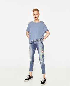 ZARA - TRF - SLIM FIT LOW RISE JEANS