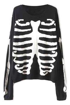 edgy-skeleton-print-sweater