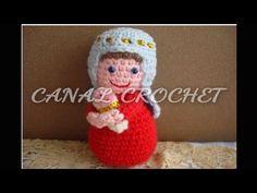 Virgen María y Niño Jesús tejidos a crochet (amigurumi) - YouTube