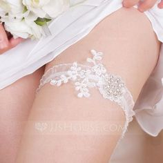 [US$ 14.29] Sexy Lace With Rhinestone Wedding Garters (104076280)